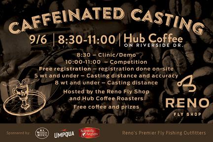 Caffeinated Casting | September 6 | at Riverside Hub Coffee