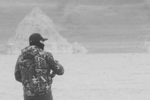 Mike Anderson at Pyramid Lake