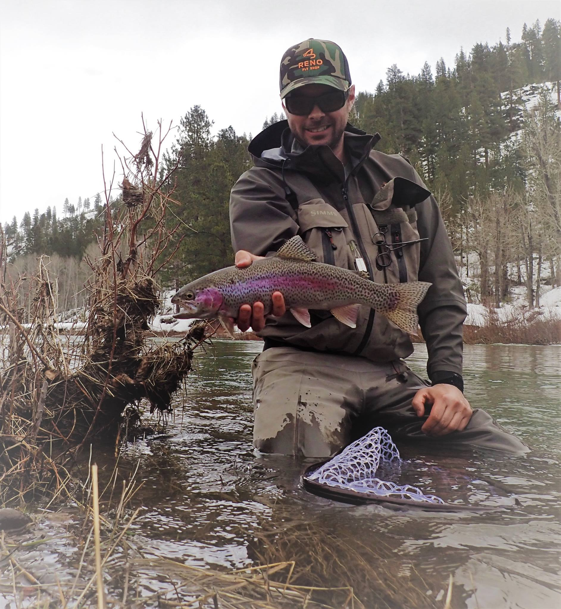 The edges often will produce the most fish in high flows.