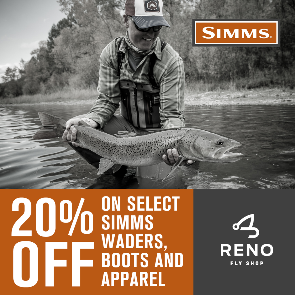 Simms sale now wader boots and apparel reno fly shop for Fly fishing waders sale