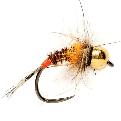 6 Fly Fishing Nymph Flies Tungsten Amber Micro Nymph Size 16